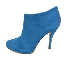 Enzo Angiolini Eayilin Blue Suede Ankle Boot